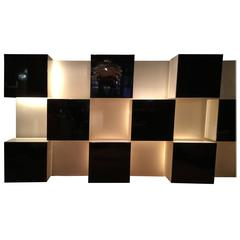 Illuminated Wall Unit Designed by Roberto Monsani for Acerbis