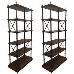 Pair of Directoire Style Etageres