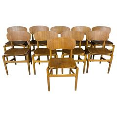 Set of Ten Dining Chairs from Denmark