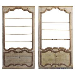 Pair of French Biblioteques Constructed from Paneled Room, Versailles, Boiserie