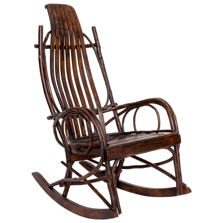 Early 20th Century Adirondack Childs Rocking Chair For Sale At 1stdibs