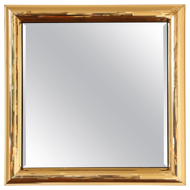 disco ball gold square mirror frame 1