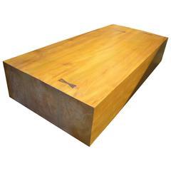 Andrianna Shamaris Modern Teak Wood Coffee Table