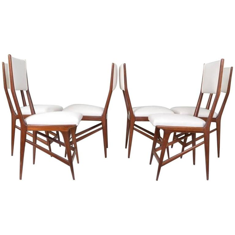 Set Of Six Carlo Di Carli Style Dining Chairs Italy For