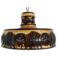 Danish Mid-Century Ceramic Pendant Light