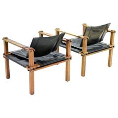 Pair of Safari Lounge Chairs by Gerd Lange, Germany 1960s