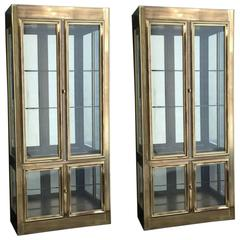 Pair of Mastercraft Display Cabinets