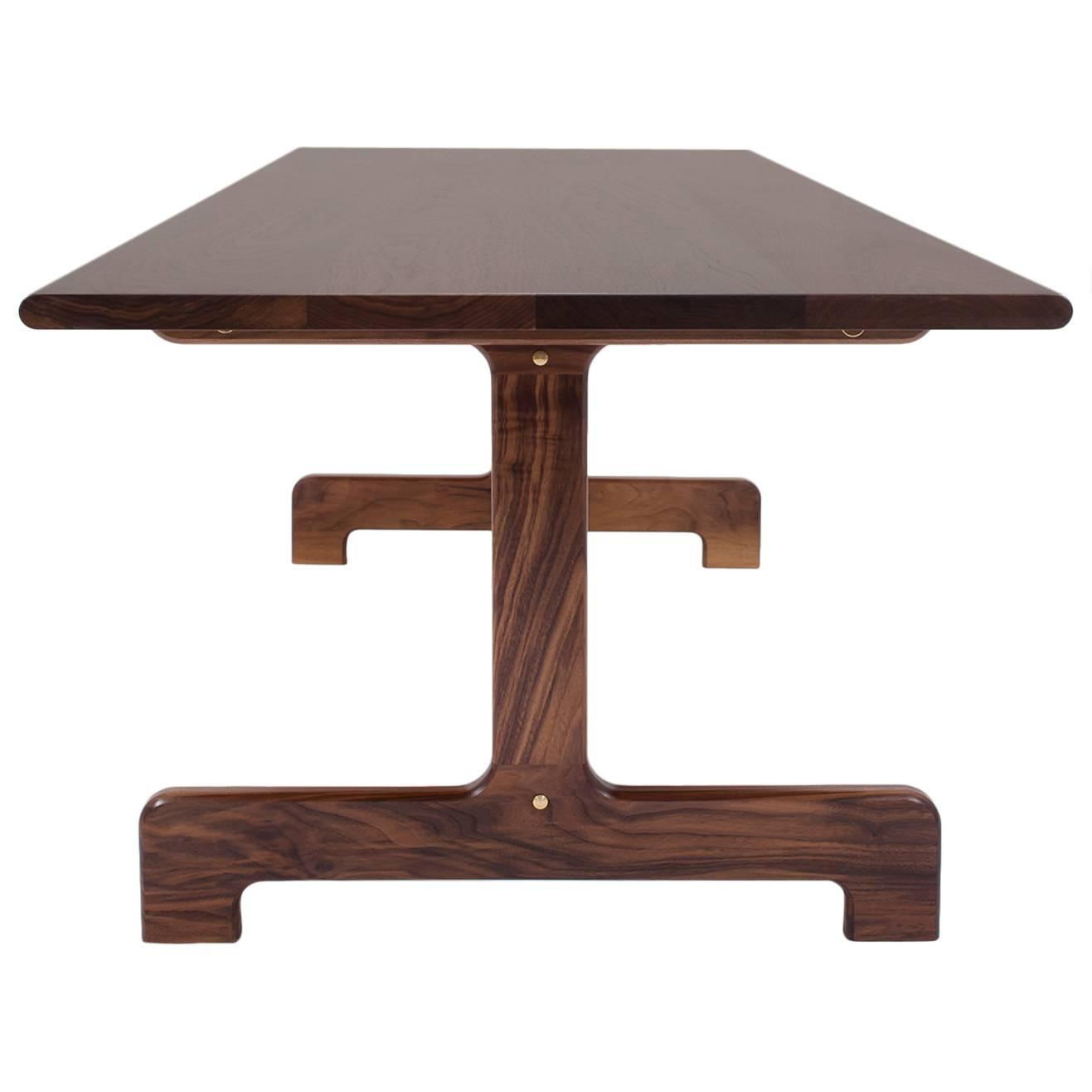 asa pingree physalia dining table in american walnut for sale at 1stdibs. Black Bedroom Furniture Sets. Home Design Ideas