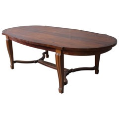Fine French Art Deco Mahogany Dining Table in the Manner of Arbus