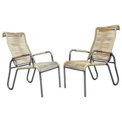 Pair of Art Deco Modernist Armchairs, circa 1940