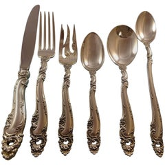 Decor by Gorham Sterling Silver Flatware Set 12 Service Luncheon, 84 Pieces