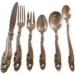Decor by Gorham Sterling Silver Flatware Set 12 Service Luncheon, 84 Pieces