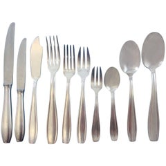 Unknown French Silver Plate Flatware Set in Fitted Christofle Box Dinner 124 Pcs