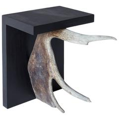 'Stag T' Plywood and Antler Stool by Rick Owens Home Collection