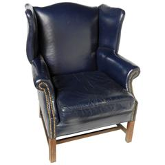Georgian Style Wing Chair by Leathercraft