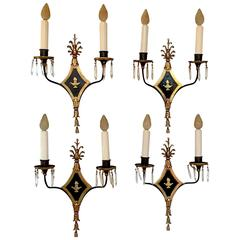 E.F. Caldwell Two-Light Wall Sconces, circa 1910