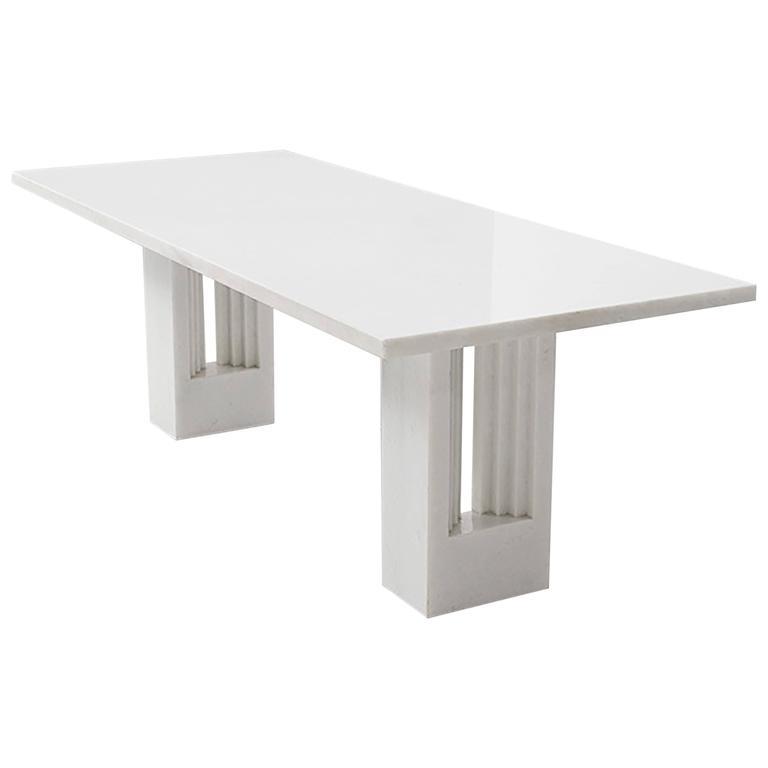 Carlo Scarpa & Marcel Breuer marble Delfi table, 1970s