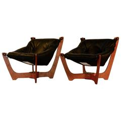Pair of Mid-Century Modern Style Luna Sling Chairs