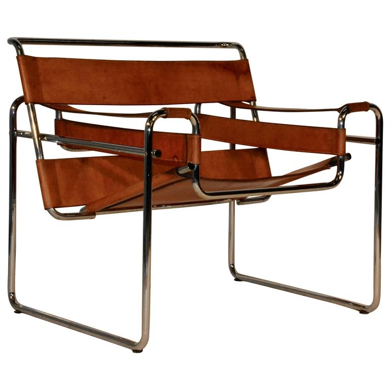mid century wassily chair by marcel breuer at 1stdibs. Black Bedroom Furniture Sets. Home Design Ideas