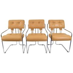 "Set of Three ""Tucroma"" Chairs by Guido Faleschini for Pace"