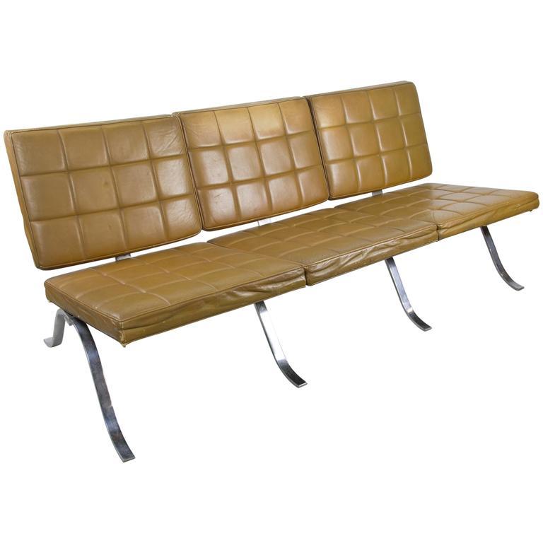 1970s Chrome Three-Seat Sofa