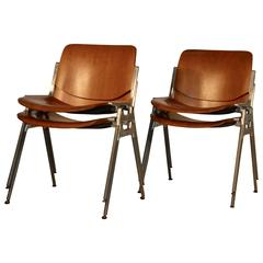 Set of Four Giancarlo Piretti Conference Chairs