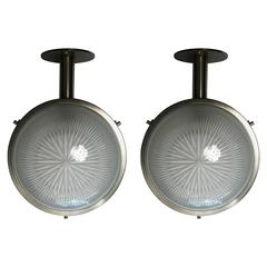 Pair of Sergio Mazza for Artemide, 1960s Wall or Ceiling Lights