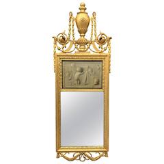 18th Century Neoclassical Mirror with Signed Grisaille by Jacob de Wit, 1749