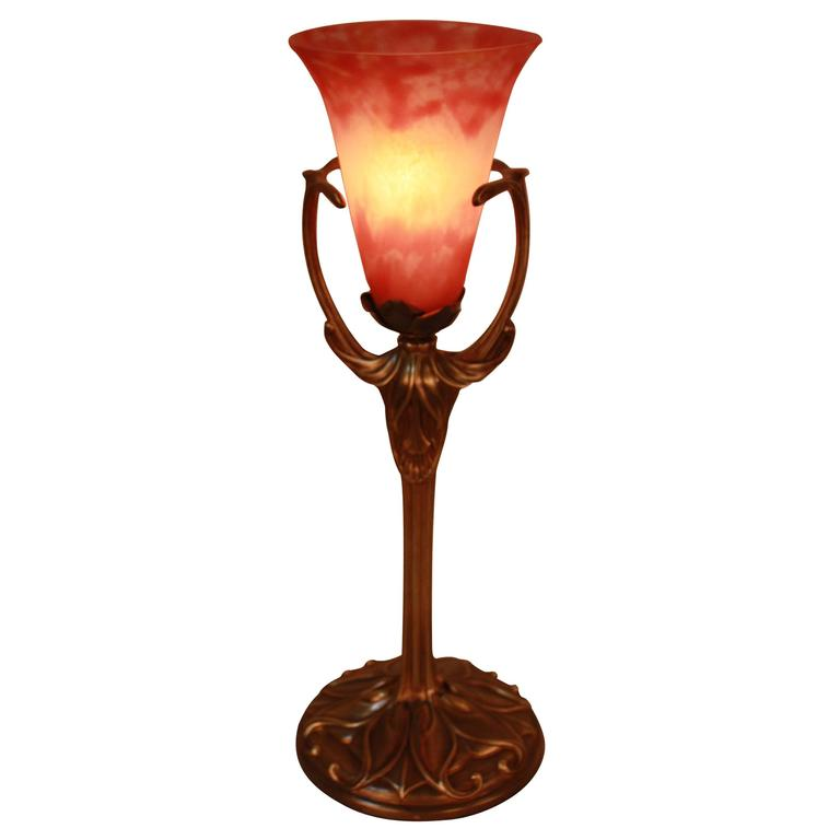 Art Nouveau Lamp By Daum Nancy At 1stdibs