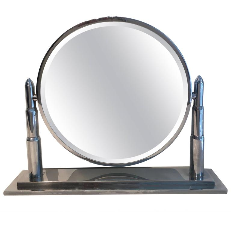 Stunning Art Deco Vanity Mirror After Donald Deskey For