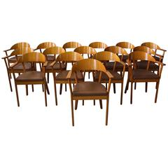 5 French 1980's Armchairs by Baumann