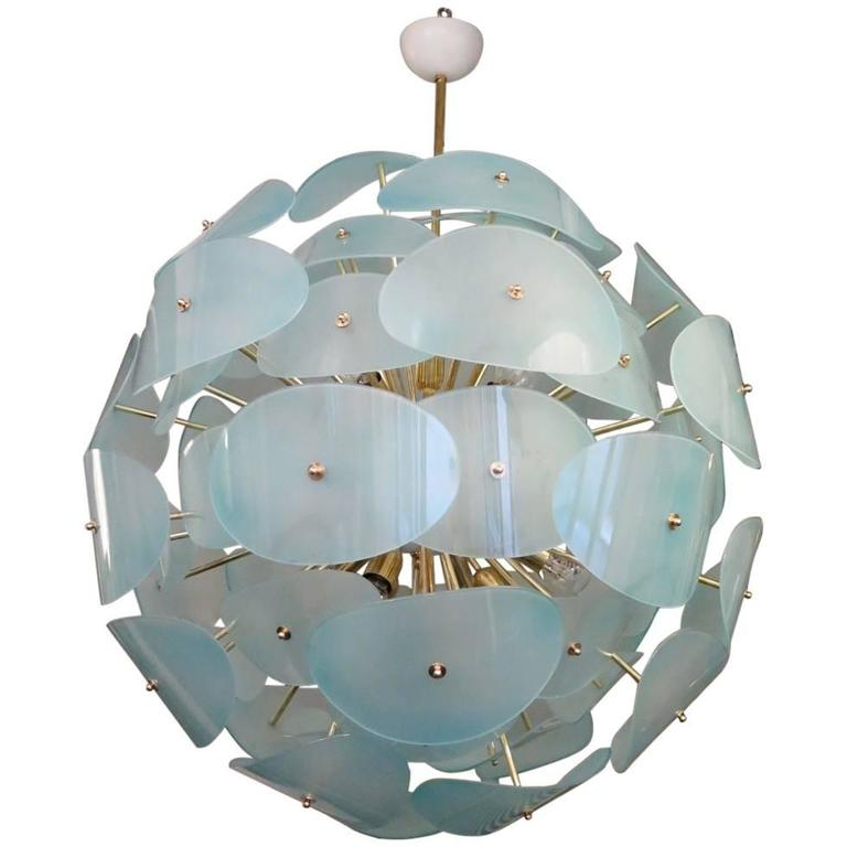 "Murano Chandelier, 1970s in the Style of ""Stilnovo"""