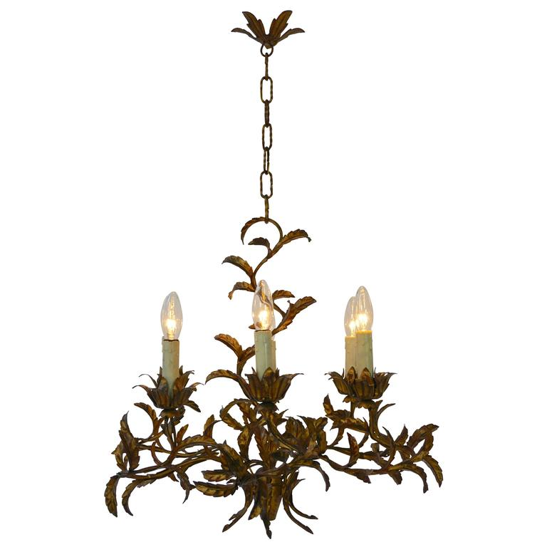 Italian Brass Chandelier