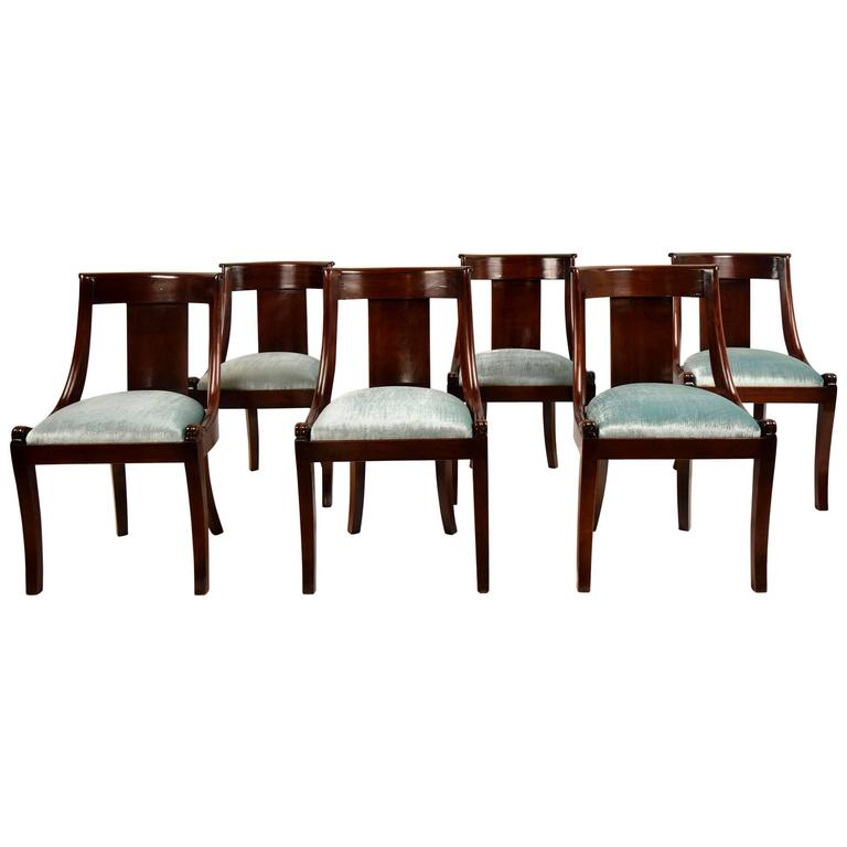Set of six antique french empire style dining chairs at 1stdibs - Reasons choosing vintage style furniture ...