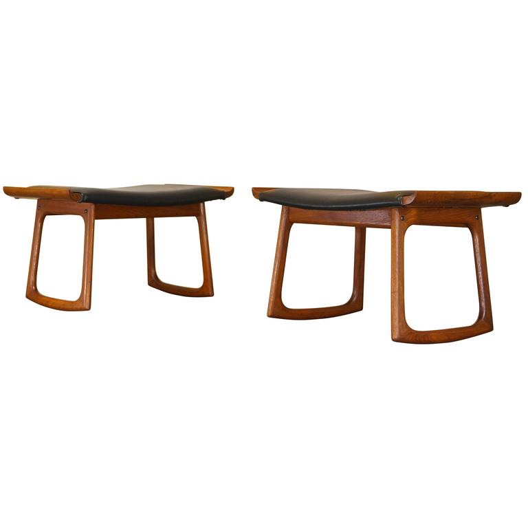 Pair Of Rare 1960s Mid Century Danish Teak Rocking