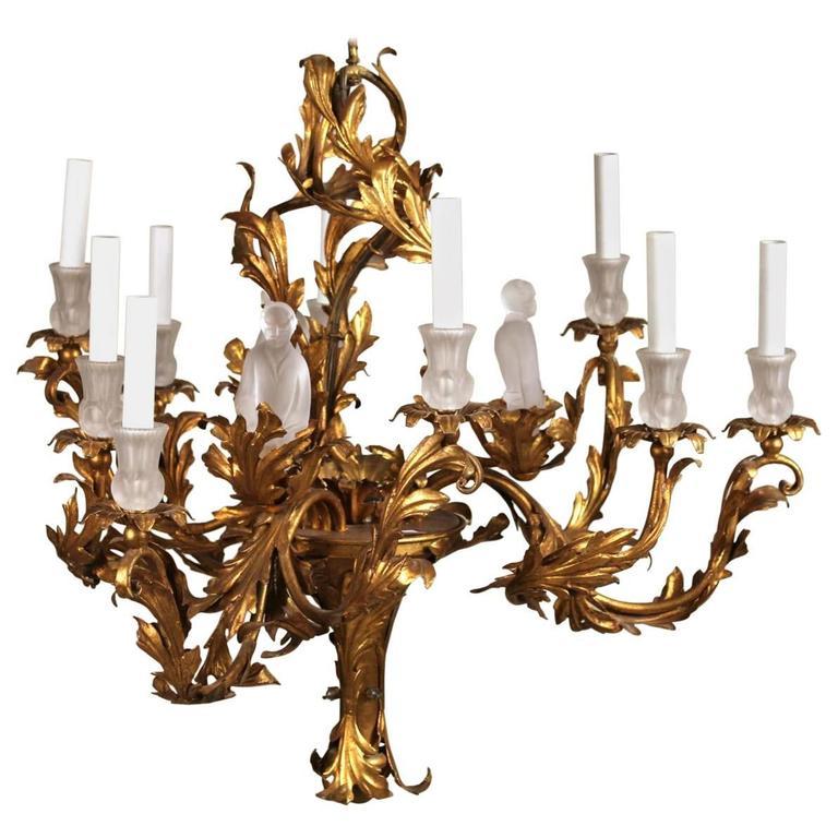 Unusual gilt chinoiserie chandelier for sale at 1stdibs unusual gilt chinoiserie chandelier for sale aloadofball Choice Image