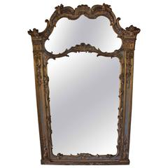 Louis XV Style Painted and Gilt Mirror