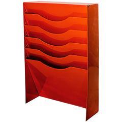 Vertical File Holder in Safety Orange, 1990s