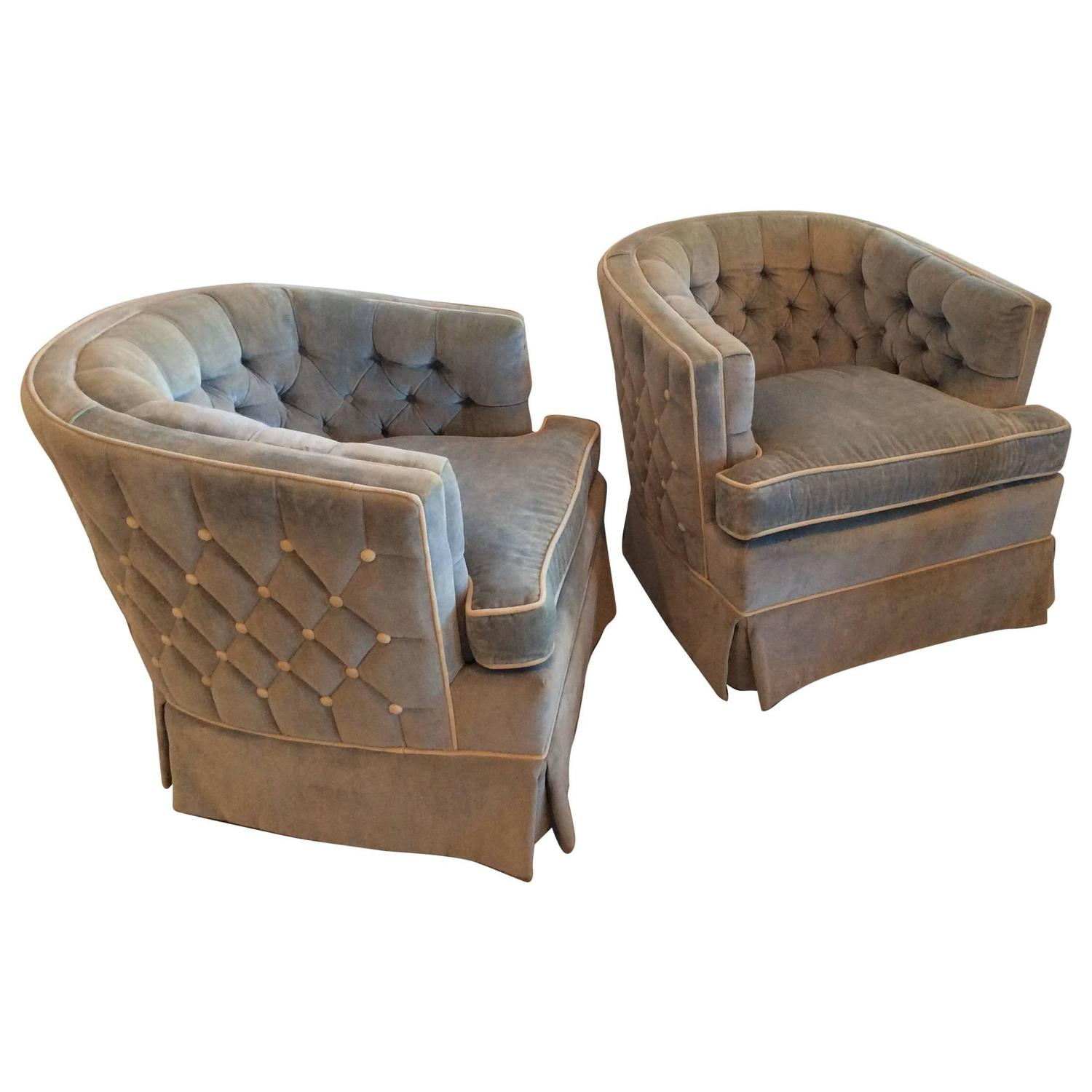 id swivel for pair z of chair hollywood vintage tufted barrel f arm tub regency button seating chairs furniture sale at