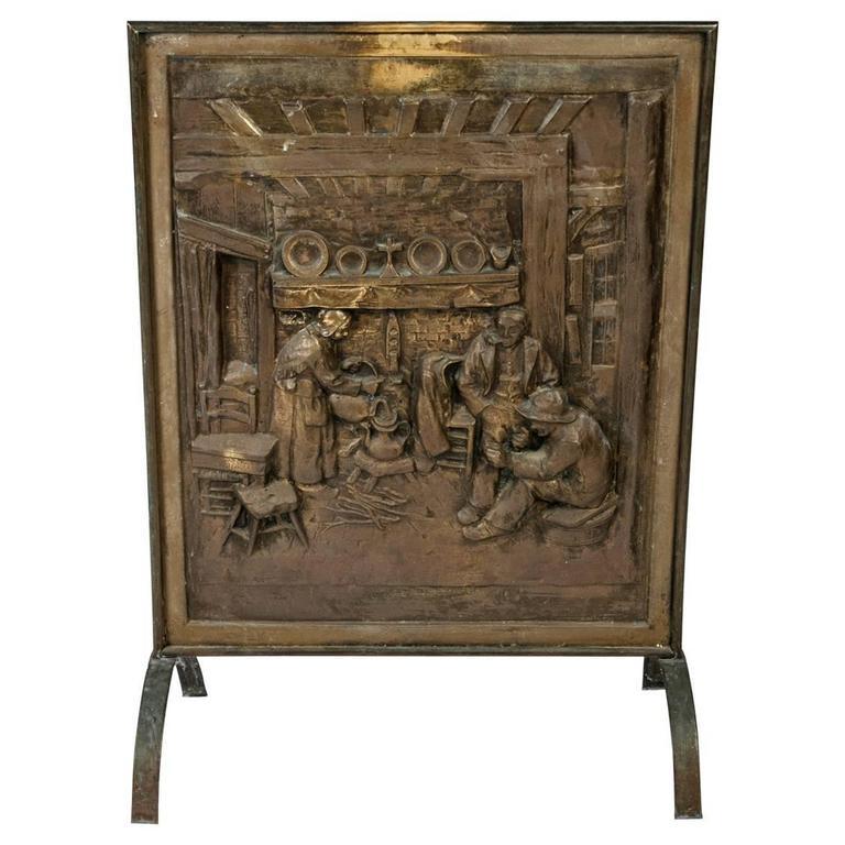antique brass fireplace screen at 1stdibs
