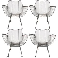 Russell Woodard Low Lounge Patio Chairs Sculptura Line