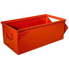 Industrial Storage Bin in Safety Orange, 1930s