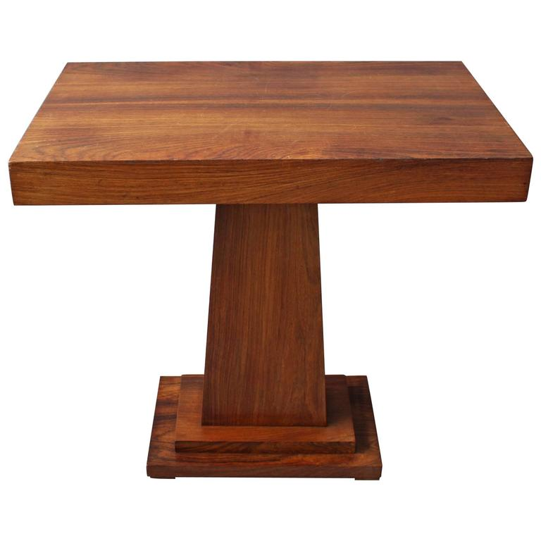 Console Gueridon: Fine French Art Deco Rosewood Gueridon / Console For Sale