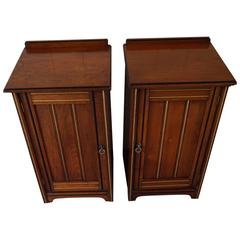 Arts & Crafts Nightstands Bedside Cabinets By Gillow & Co Attr. to Bruce Talbert
