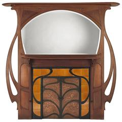 Art Nouveau Mantel Mirrors and Fireplace Mirrors