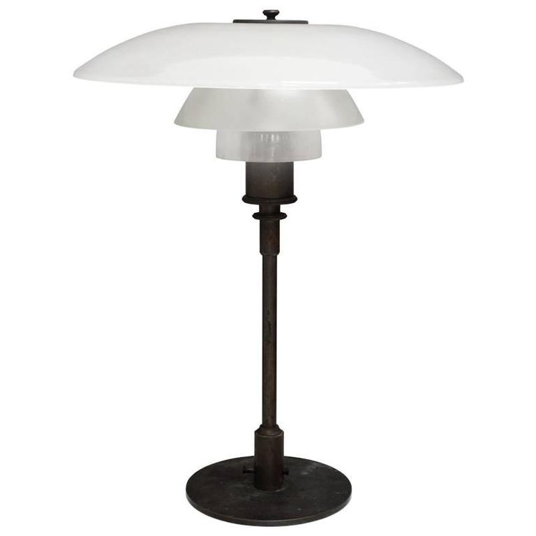 Table Lamp. Pat. Appl. by Poul Henningsen
