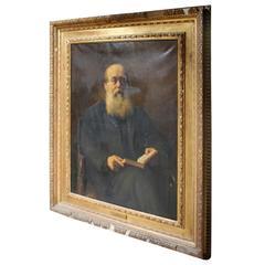 Ambrose Dudley, A Large English School, Gilt Framed Oil on Canvas Portrait