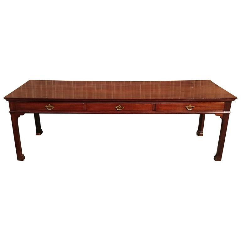 Large-Scale George III Period Mahogany Serving Table