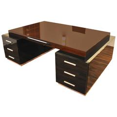 Large Bauhaus Partner Desk with Wenge Wood