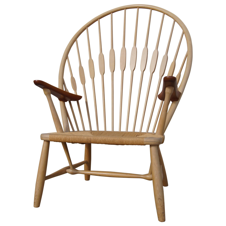 Ash and Teak Peacock Chair by Hans Wegner for Johannes Hansen